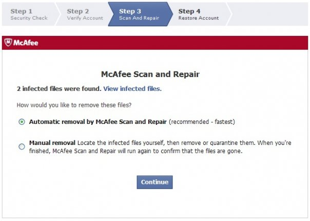 mcafee scan