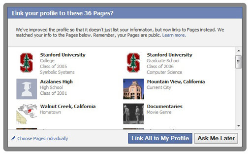 Facebook Connections Opt-in