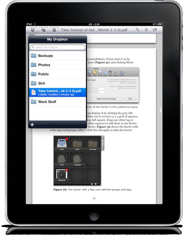 Dropbox iPad – 3