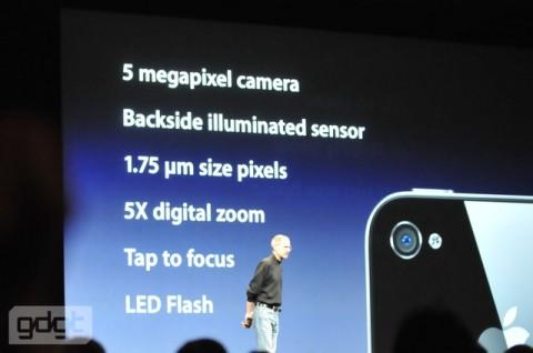 iPhone 4 camera slide