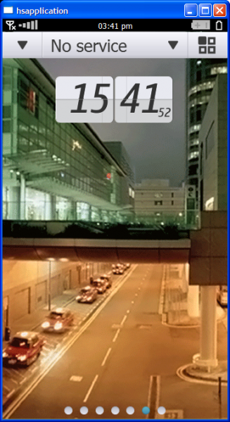 Hsdigitalclock First Symbian^4 Screenshots Surface
