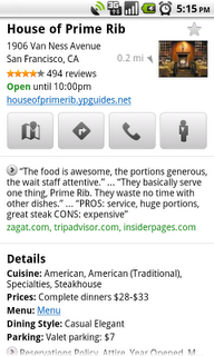 places pp primerib edited Google Places gets an icon; better results in Google Maps.