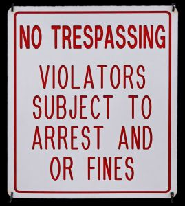No Trespassing into VPN or else you will be fined and possibly arrested if the law goes to that length