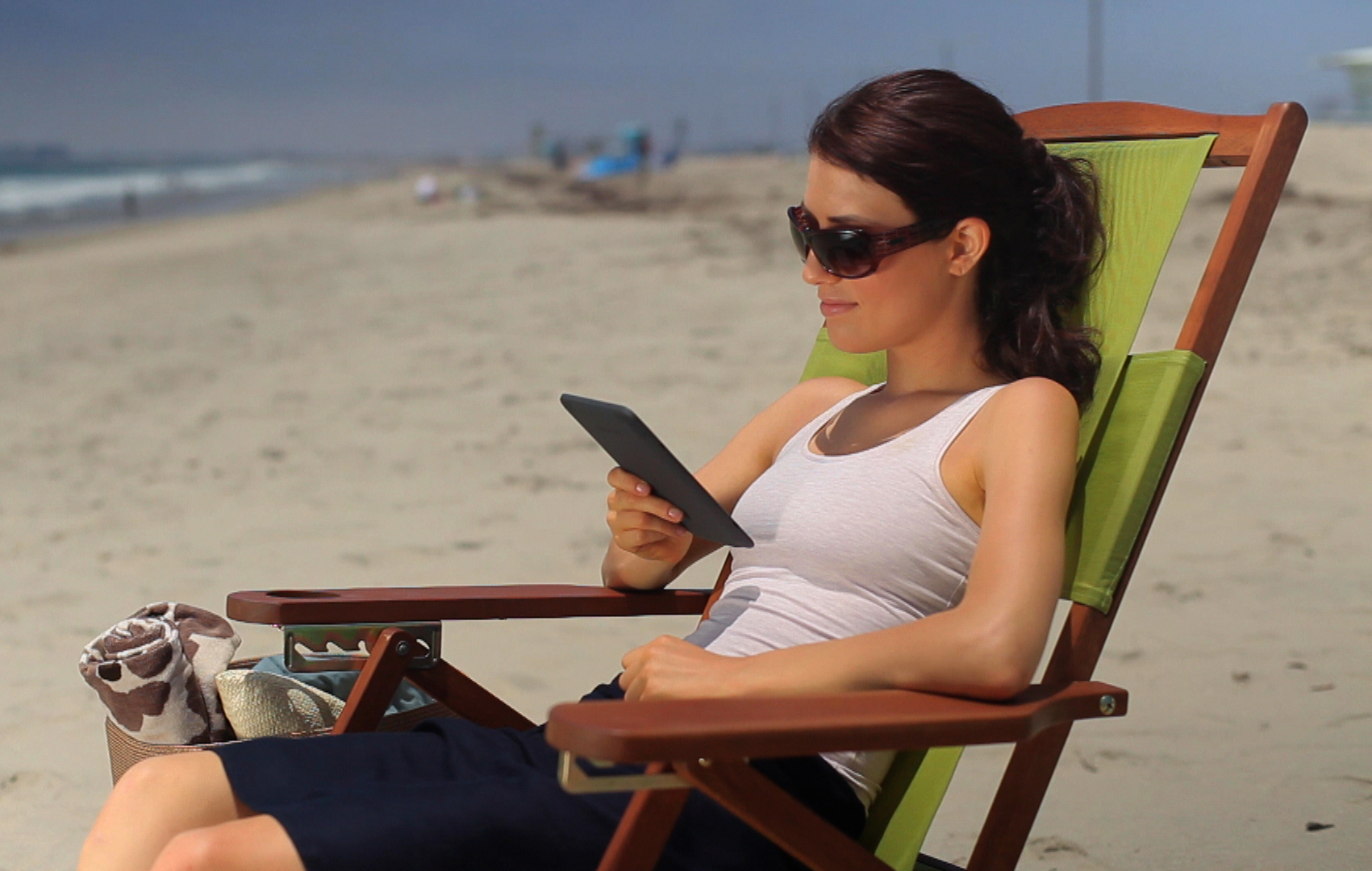 Kindle at beach