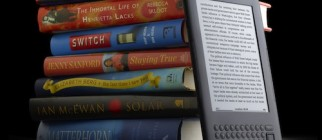 Kindle with books – graphite