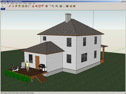 Google releases sketchup 8 includes google maps built in for 3d tekenprogramma