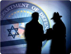 Israeli and US Spies depicted in the shadows