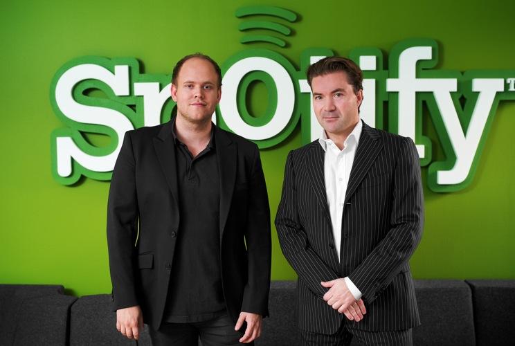 Founders Daniel Ek & Martin Lorentzon