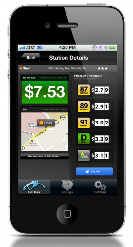 3 StationDetails 270x500 SmartFuel: Location aware gas pricing, on your route.