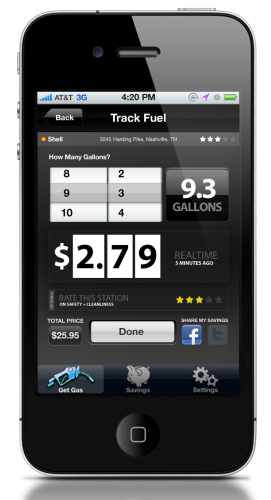 4 RecordPurchase 271x500 SmartFuel: Location aware gas pricing, on your route.