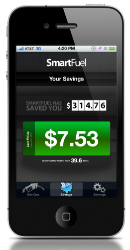 5 SavingsSummary 261x500 SmartFuel: Location aware gas pricing, on your route.