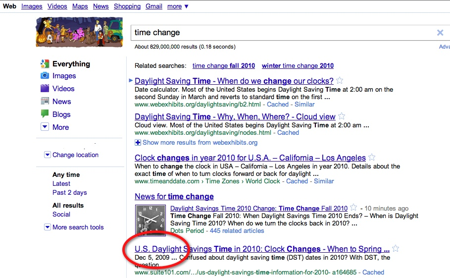 GoogleTimeChange The TNW Review: blekko   Is this finally a Google killer?
