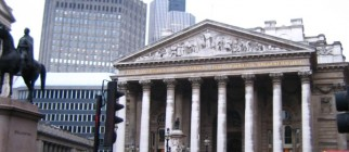 London – old Stock Exchange Montage