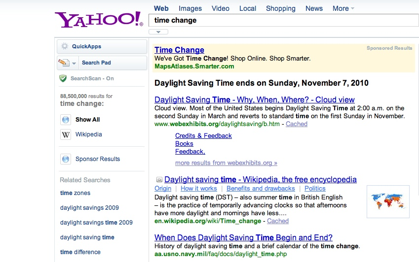 YahooTimeChange The TNW Review: blekko   Is this finally a Google killer?