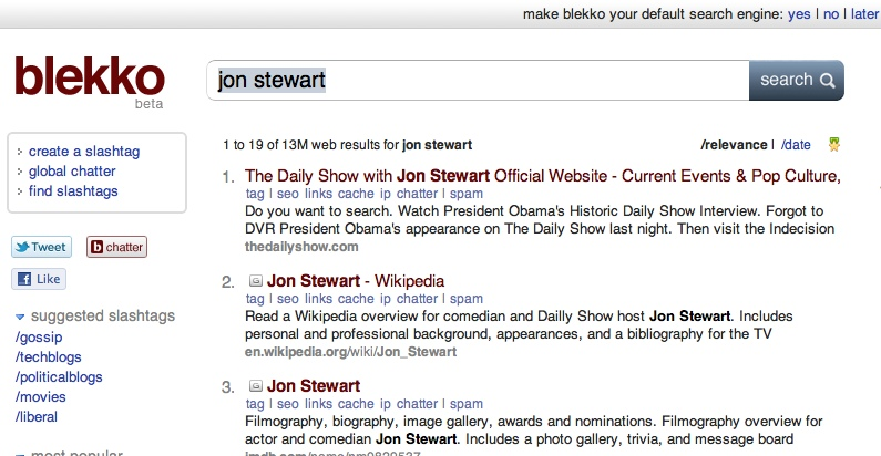 blekkojonstewart2 The TNW Review: blekko   Is this finally a Google killer?