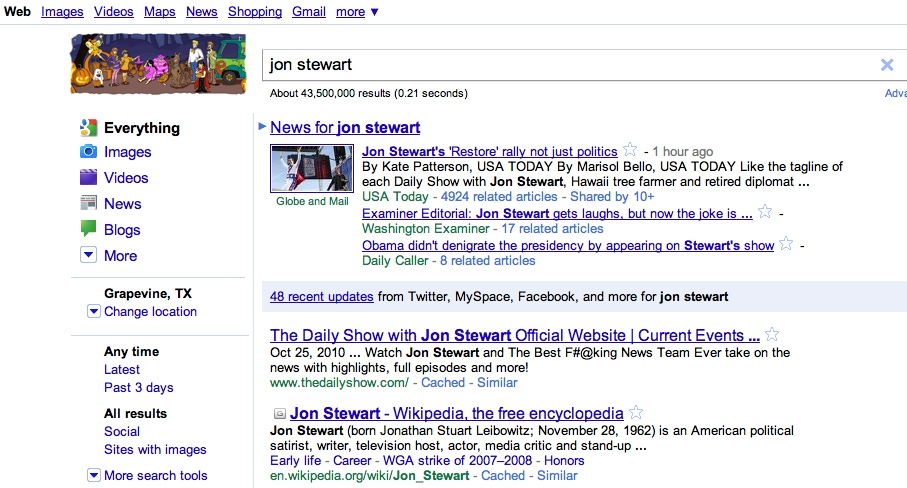 googlejonstewart The TNW Review: blekko   Is this finally a Google killer?