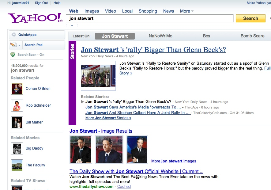 yahoojonstewart The TNW Review: blekko   Is this finally a Google killer?