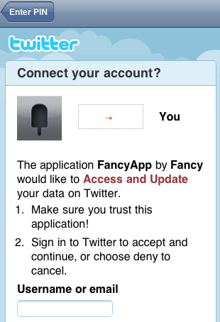 Fancy Twitter Login