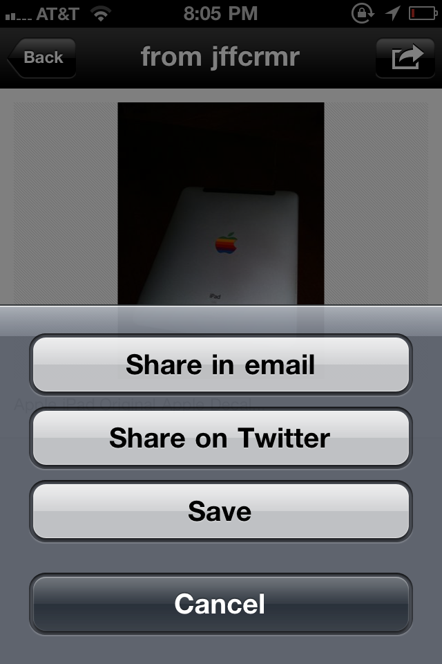 Fancy iPhone App Sharing