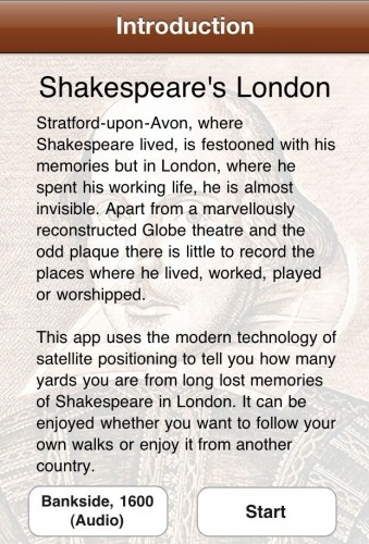 Photo Dec 13 8 26 59 PM e1292294187743 339x500 Shakespeares London for iPhone is the best way to experience the Bards Great Britain
