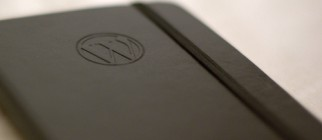 WordPress Moleskine notebook