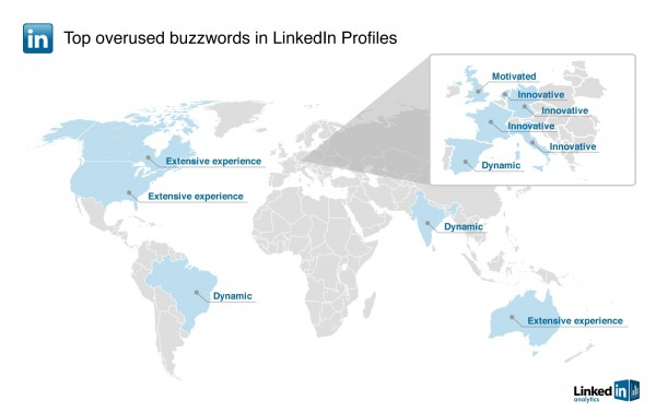 world with words 600x377 LinkedIn reveals most overused buzzwords in user profiles
