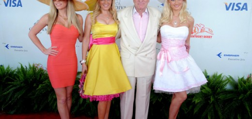Kendra Wilkinson (L-R) Playboy's Kendra Wilkerson, Bridget Marquardt, Hugh Hefner and Holly Madison attend the 134th running of the Kentucky Derby at Churchill Downs on May 3, 2008 in Louisville, Kentucky