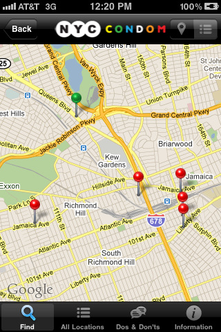 Location based app helps you find free condoms in NYC