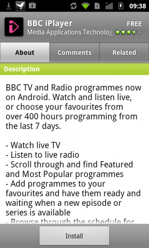 screenshot 1 300x500 BBC iPlayer Android App Launches