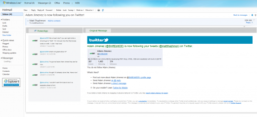 7.Twitter App in Hotmail 520x238 Apps in your email? PowerInbox reinvents what email can be.