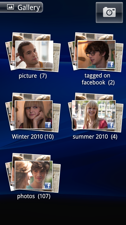 Facebook inside Xperia Photo Gallery integration