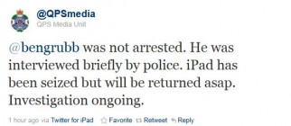Twitter – QPS Media Unit- bengrubb was not arrested
