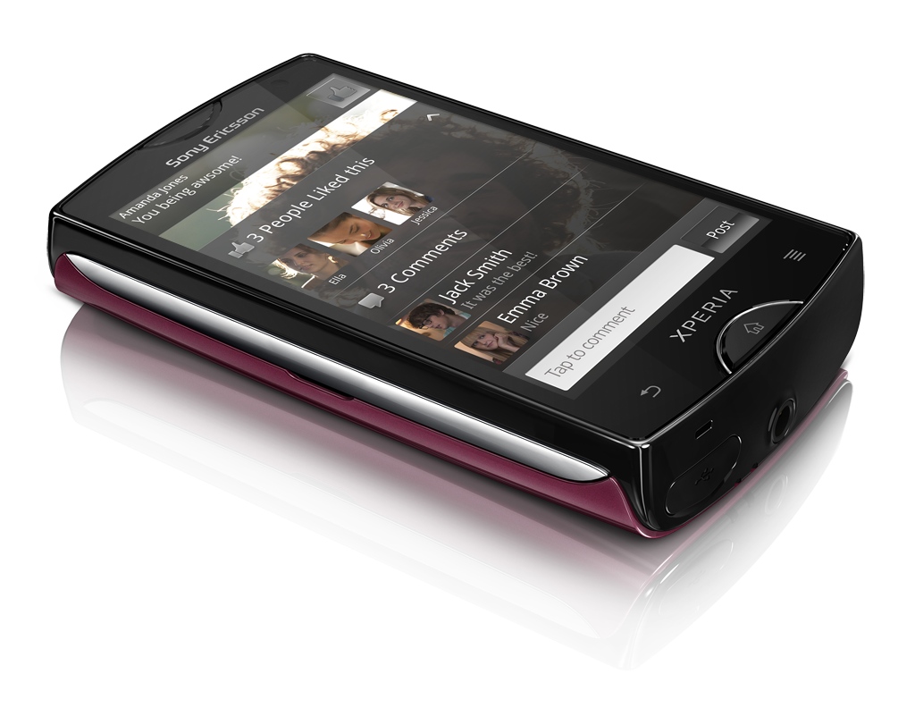 Xperia  mini_Dark pink