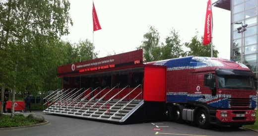 photo 7 520x274 The giant Vodafone truck that can charge 2,000 mobile handsets at one time
