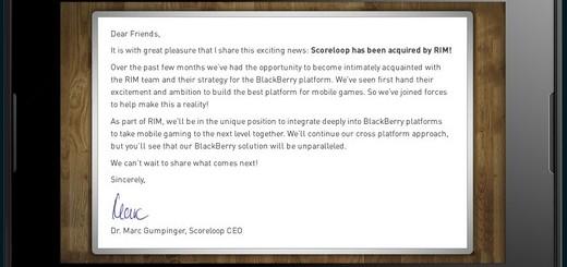 Scoreloop Open Letter