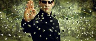 Neo Stopping Bullets