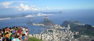 Tourists at Corcovado, Rio de Janeiro