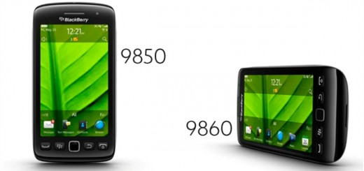 BlackBerry Torch 9850 and 9860 smartphones