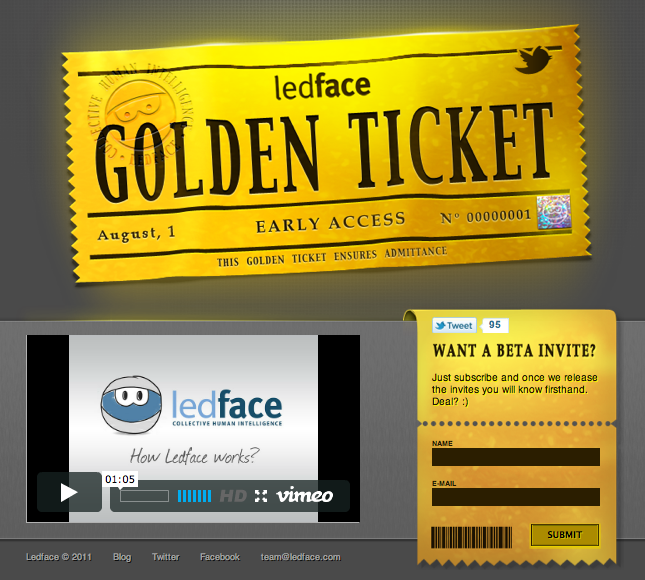 Ledface golden ticket