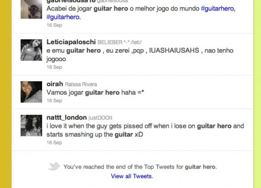 24 Twitter   Search guitar hero 520x375 Twitter too slow with search upgrades? Google+ shows Twitter how its done