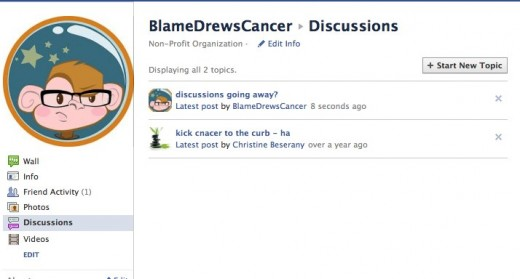 BlameDrewsCancer 3 520x279 Facebook Discussions feature on pages being discontinued on October 31st
