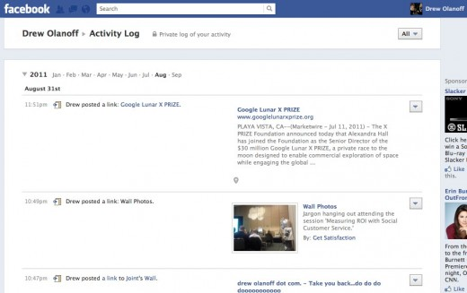 Drew Olanoff 520x327 Facebook Timeline: Hands on with the new Facebook Profile [Picture and Video Tour]