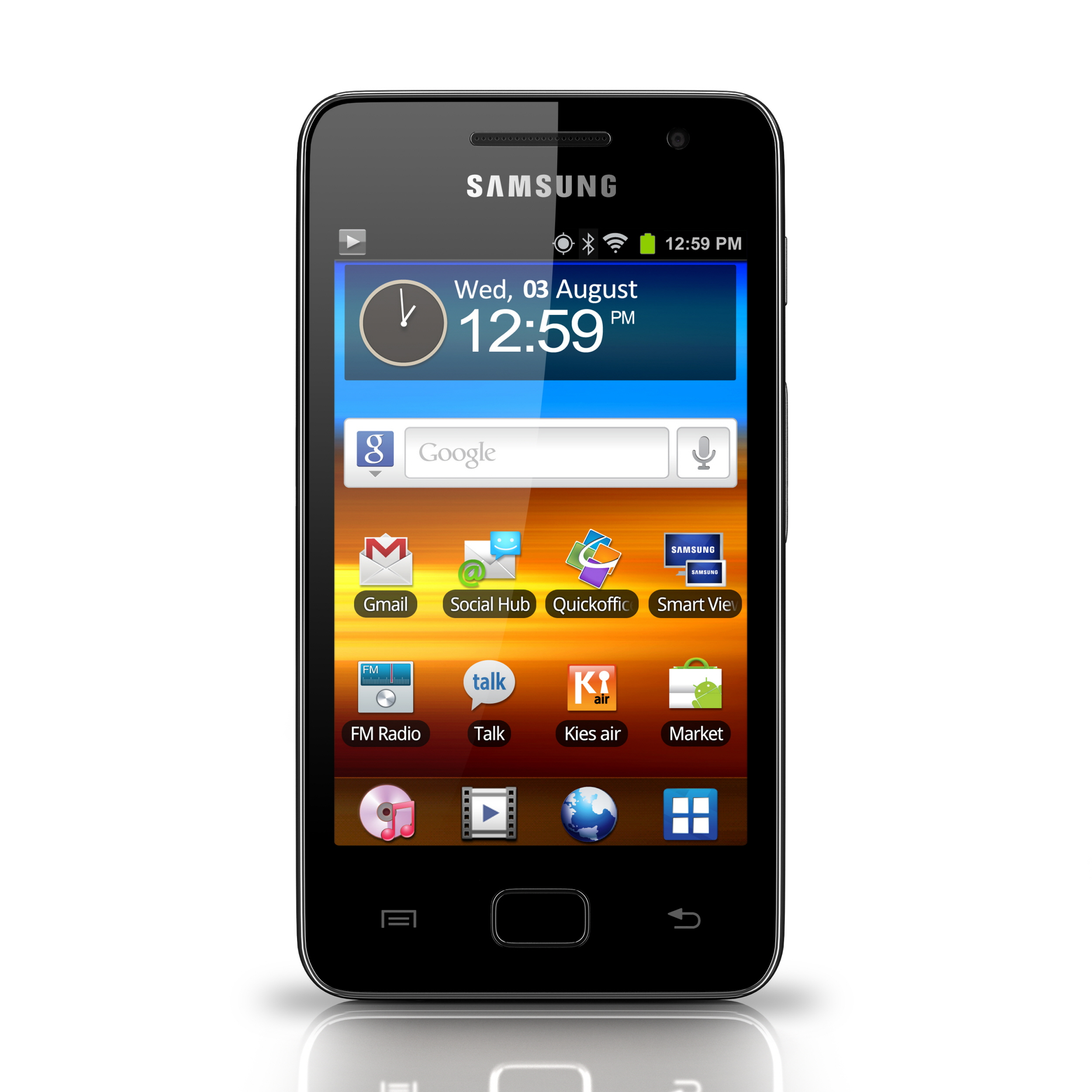 samsung reveals galaxy s wifi 3 6 a contract free wifi. Black Bedroom Furniture Sets. Home Design Ideas