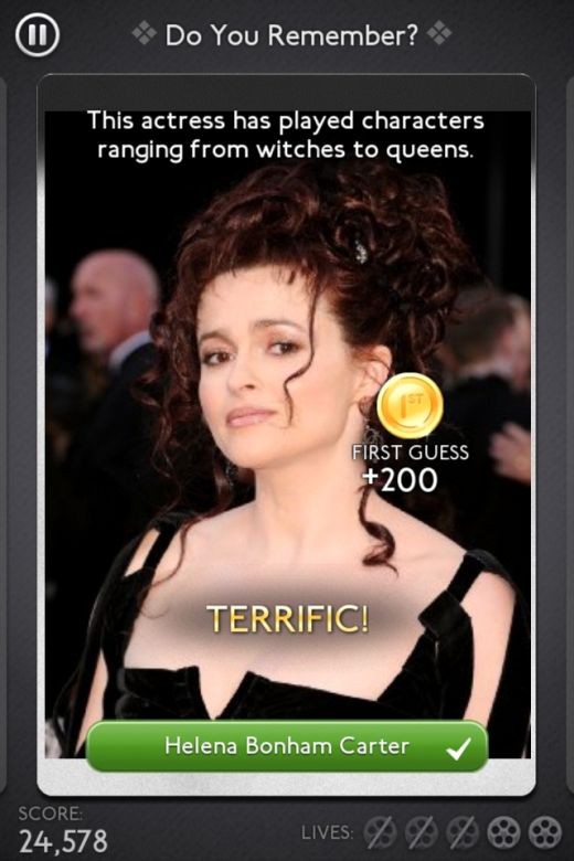 Image IMDb Trivia Helena 520x780 IMDb steps into the gaming realm with a trivia app for iOS
