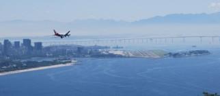 Plane landing – Santos Dumont