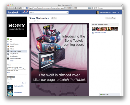Screen Shot 2011 09 26 at 12.39.47 PM 520x422 How Sony ran #CatchTheTablet, its most successful social media campaign in history
