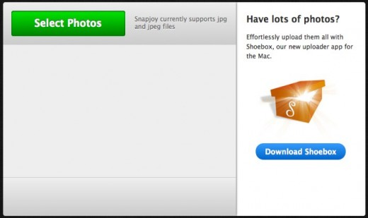 Snapjoy   Upload 520x309 Snapjoy wants to store and categorize all of your photos online [invites]