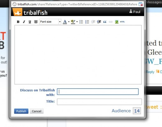 TribalFish2 520x410 This browser extension turns tweets into chats with a single click