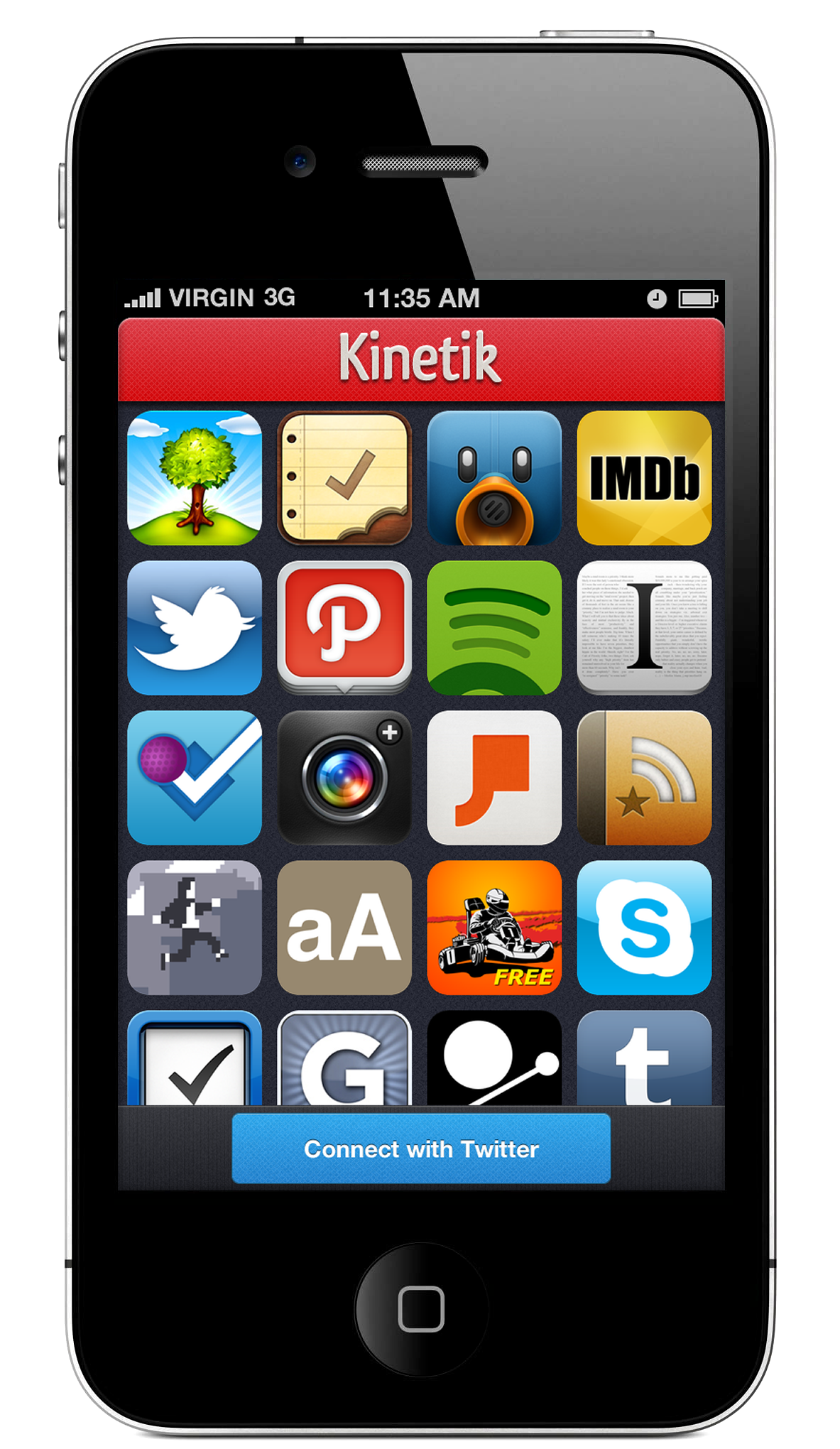 Kinetik an iphone app that lets you find and share great for Application miroir iphone