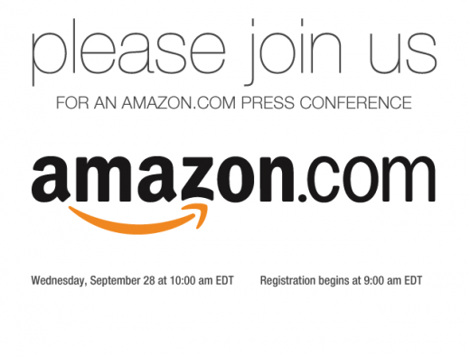 image001 1 520x395 Amazon sends out a press invite for next Wednesday. Is it the tablet?